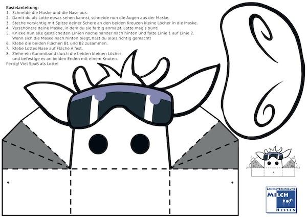 Bastel Spass Mit Der Kuh Lotte Maske